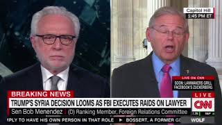 Menendez Discusses Syria Response on CNN with Wolf Blitzer