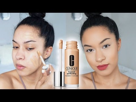 PERFECTING FOUNDATION?! Clinique Beyond Perfecting Foundation Review + Demo