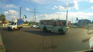 Автобус не убедился и чуть не спровоцировал ДТП...