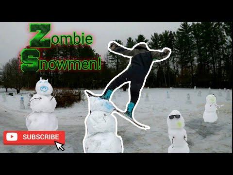 Zombie snowman Apocalypse