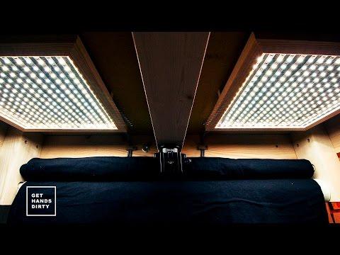 Loft Bed // Work Space : LED Light Panels - Ep. 5