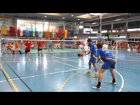 Cto. España Infantil y cadete de Badminton 2011 - Pamplona. Canarias vs Castilla La Mancha