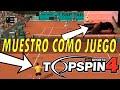top Spin 4 Muestro El Mando Mientra Juego En Experto