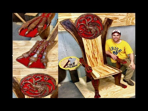 Dragon Throne Chair: 250 Hours Of Hand Carving, Epoxy, and Construction