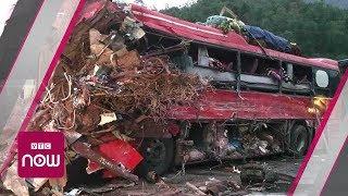 Hiện trường thảm khốc tai nạn xe tải đối đầu xe khách   VTC Now