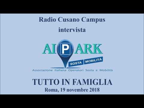 Intervista ad AIPARK a TUTTO IN FAMIGLIA, Radio Cusano Campus