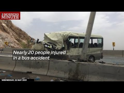 Nearly 20 people injured in a bus accident