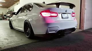 BMW F80 M3 with Akrapovic Evolution Exhaust, PSM Carbon Fiber Kit, HRE R101, BM3 Stage 2 Tune