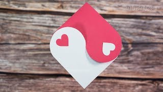 HEART CARD | Valentines Day Card | Valentine Greetings Card