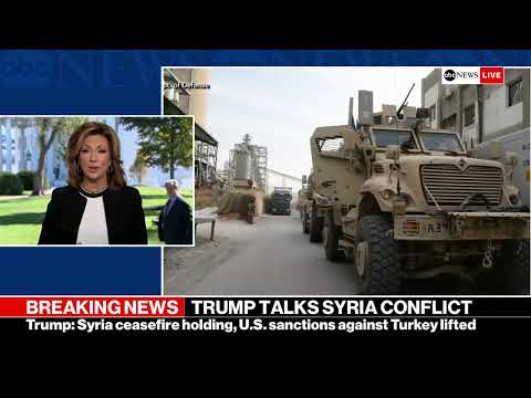 President Trump makes statement on Syria from the White House   ABC News