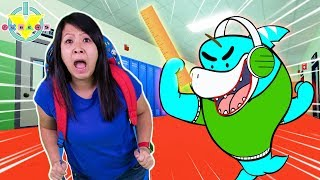 Ryan's Mommy vs. Big Gil LET'S PLAY ROBLOX BALDI'S BASICS! Spooky School Gameplay!