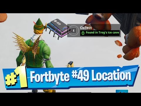 Fortnite Fortbyte #49 Location - Found In Trog's Ice Cave