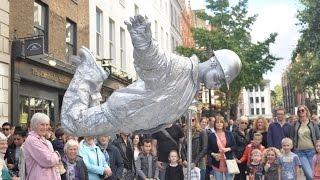 Silver man- floating and levitating trick