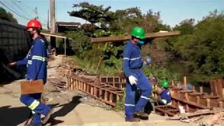 Avançam trabalhos de ampliação de ponte na Zona Noroeste de Santos