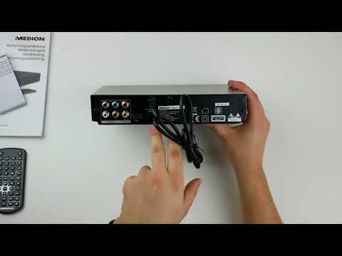 Medion DVD Player E71021 Unboxing & Test german/Deutsch