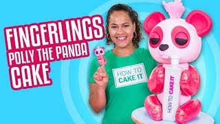 Fingerlings Polly the Panda CAKE!! | How To Cake It