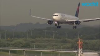 Delta Plane Lands At Air Force Base By Accident
