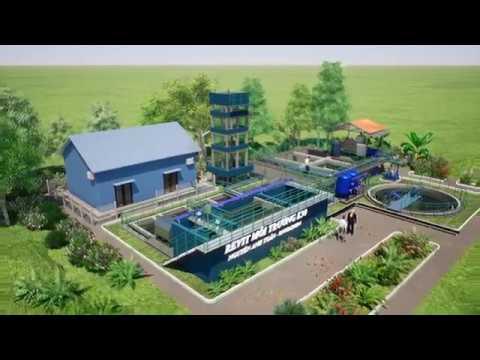 3D Animation - Hệ Thống Xử Lý Nước Thải Dệt Nhuộm