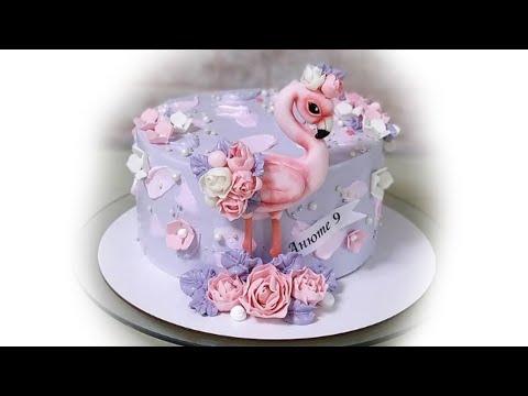Мастер-класс приготовления торта для девочки с фламинго