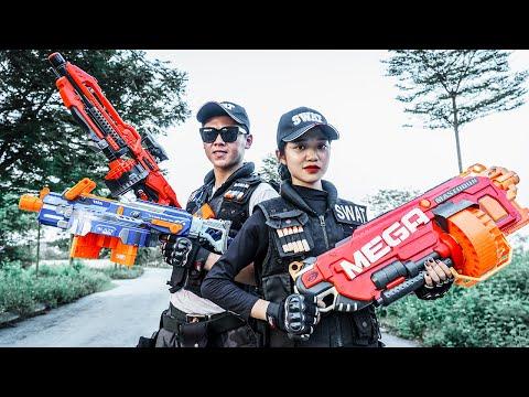 LTT Nerf War : Couple SEAL X Warriors Nerf Guns Fight Criminal Group Dr Mundo Guys From Hell