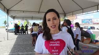 """Caminhada """"Coração saudável, Praia limpa"""" 16/03/2019"""