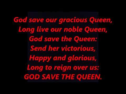 GOD SAVE THE QUEEN King LYRICS WORDS UNITED KINGDOM ENGLAND CANADA BRITAIN not SEX PISTOLS