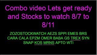 Stocks on watch Lets get ready combo video $GPRO $SNAP $EMES $GS $CRR $AEZS $SYN and more
