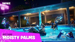 Locations once thought to be lost are beginning to appear, but they aren't the same as they once were…Drop into Moisty Palms now!  Play Fortnite Battle Royale, the completely free 100-player PvP mode. One giant map, A Battle Bus, Last one standing wins. ESRB Rating: Teen with Violence.  Instagram: https://www.instagram.com/fortnite/ Twitter: https://twitter.com/FortniteGame Facebook: https://www.facebook.com/FortniteGame/  Learn More: https://www.epicgames.com/fortnite/en-US/