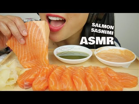 ASMR SALMON SASHIMI (INTENSE EATING SOUNDS) | SAS-ASMR