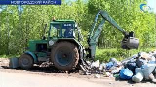 Активисты ОНФ сегодня вновь убрали свалку в Панковке