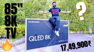 "Samsung 85"" QLED(2020) 8K TV Unboxing - The Ultimate Luxury TV Experience🔥🔥🔥  IMAGES, GIF, ANIMATED GIF, WALLPAPER, STICKER FOR WHATSAPP & FACEBOOK"