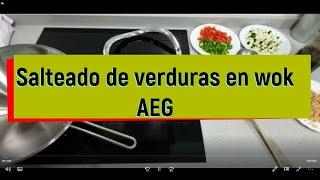 Wok AEG  con placa BOSCH PXY675DC1E inducción