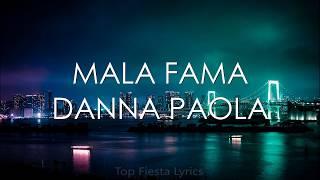 Danna Paola - Mala Fama (Letra)
