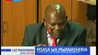 Bwana Ken Ogeto apigwa msasa bungeni baada ya kuteuliwa kuwa solisita mkuu