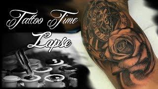 Rose & Clock Tattoo