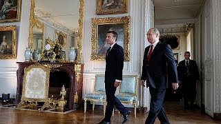 Macron says will pull no punches in first meeting with Vladimir Putin