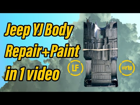 Complete Jeep YJ Underbody Tub Repair, Prep and Paint - In 1 Video | Rover 1 Project