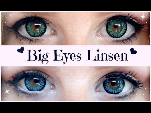 Big Eyes Kontaktlinsen Make-up, Einsetzen & Aufbewahrung (Carina)