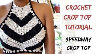 Crochet Speedway Crop Top Pattern. Tutorial from Start to Finish