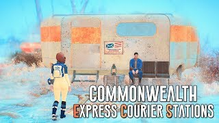 FALLOUT 4 MODS - Commonwealth Express Courier Stations - 8 Survival Player Homes Mods