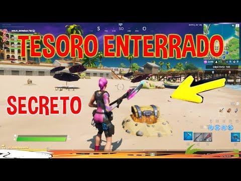 COFRE DEL TESORO  ENTERRADO FORTNITE ARENAS ARDIENTES COFRE ENTERRADO SECRETO FORTNITE UBICACION