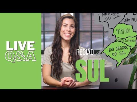 LIVE Q&A - REGIÃO SUL   Brazilian Portuguese - YouTube