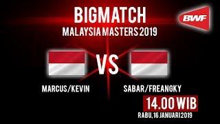 Live Streaming Malaysia Masters 2019, Ganda Putra Marcus Gideon & Kevin Sanjaya Beraksi Siang Ini