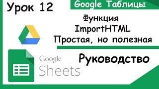 Google таблицы.Что такое ImportHTML. Урок 12.