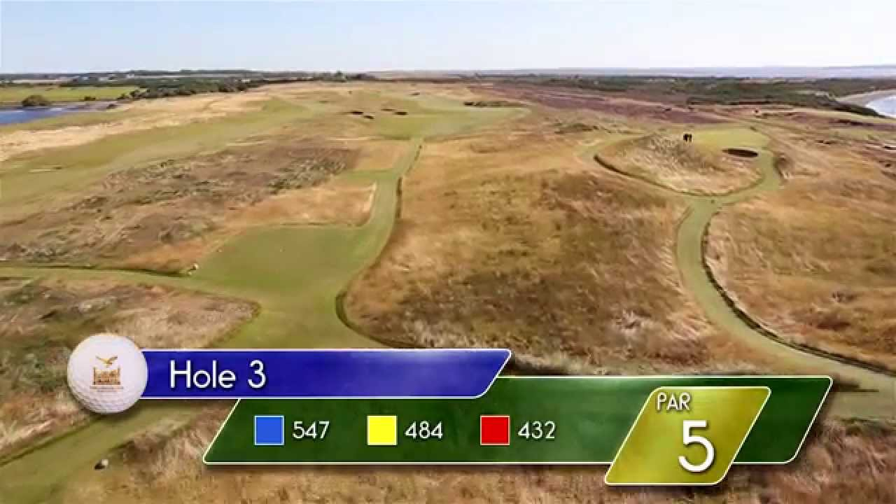 Carnegie Links Hole 3 - YouTube video