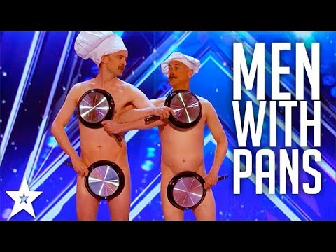 Men with Pans SHOCK the Audience   America's Got Talent 2017 (видео)