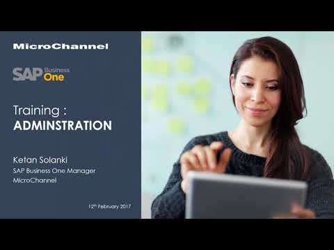 SAP Business One Training Administration - YouTube