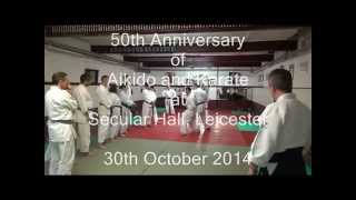 preview picture of video 'Leicester Karate Club - David Wilkins Sensei class 50th Anniversary class Secular Hall'