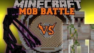 Mutant Enderman Vs Iron Golem - Minecraft Mob Battles - Mutant Creatures Mod