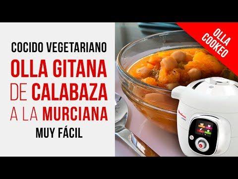 Olla Gitana de garbanzos [OLLA COOKEO] Un Cocido Vegetariano con Calabaza